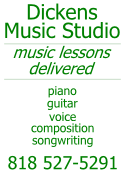 Music Lessons Delivered in Sherman Oaks, Studio City, Van Nuys, Encino.