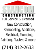 Stancom Construction is a full service, licensed construction company located in Southern California